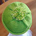 Green hat top view