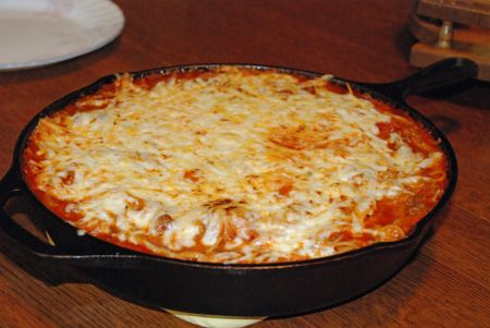 Hillbilly spaghetti pie