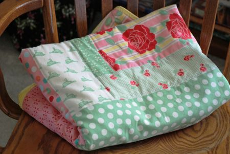 Folded baby quilt