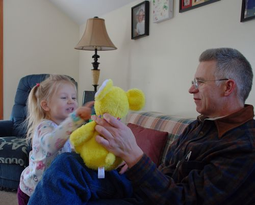 Playing with gramps