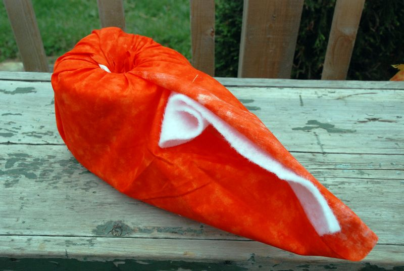 Wrapping the pumpkin