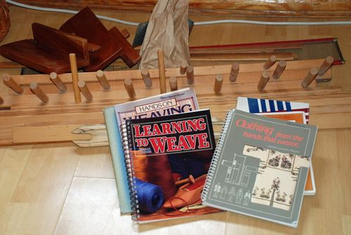 Weaving books and supplies