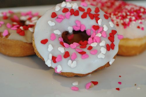 Donuts with hearts