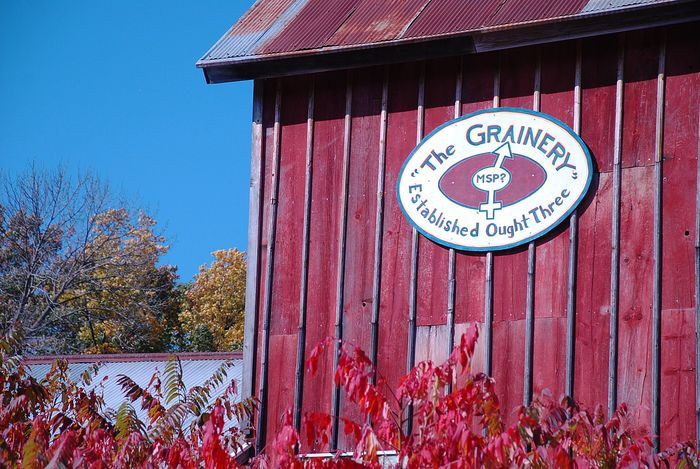 The grainery sign