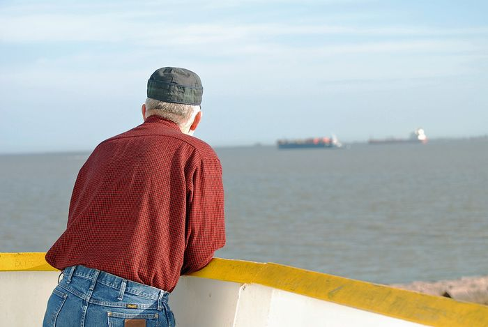 Watching to boats