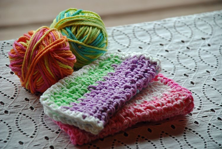 Scrap dish cloths
