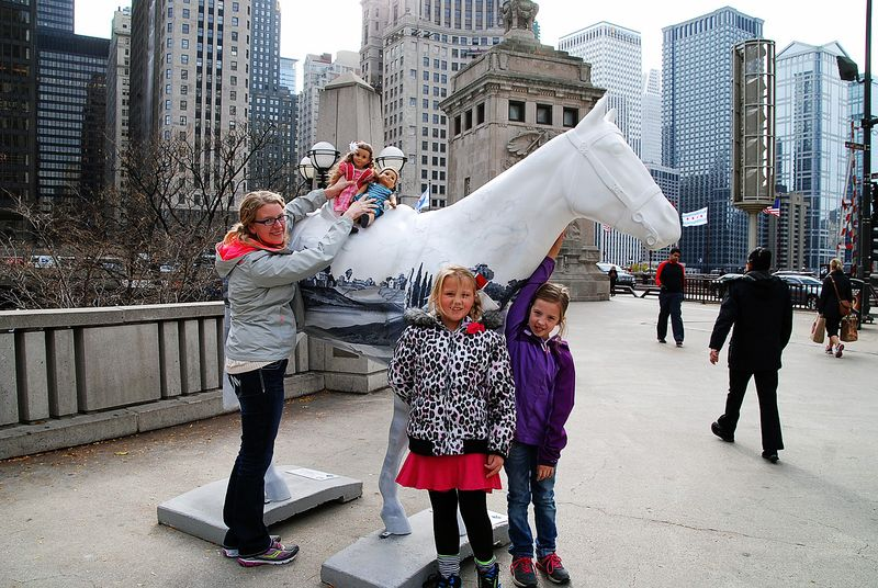 Posing with the horse