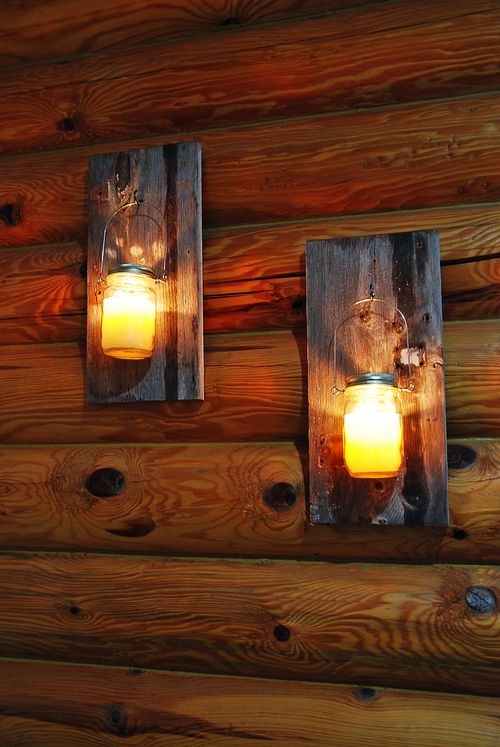 Barn wood candle holder