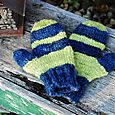 Blue & green mittens