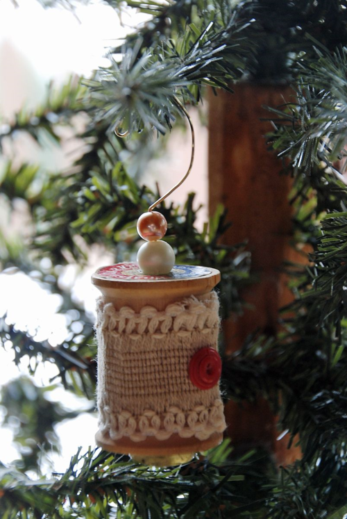Pink spool ornament