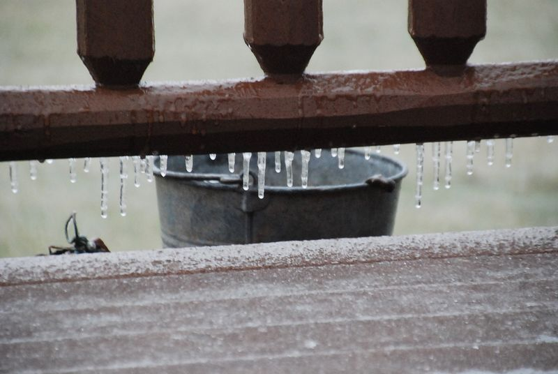 Icy porch