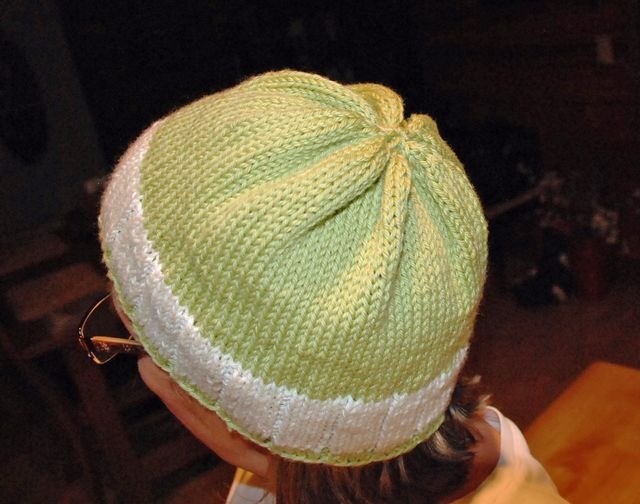My Green and White Hat